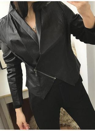 Эксклюзивная натуральная кожаная / замшевая куртка kappahl швеция