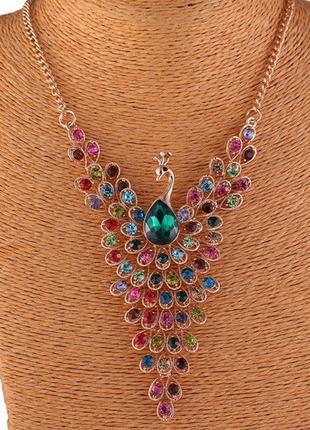29.стильное/модное ожерелье с подвеской павлина