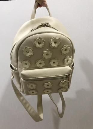 Рюкзак молочного кольору