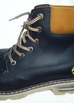 Ботинки в стиле timberland натуральная кожа зима