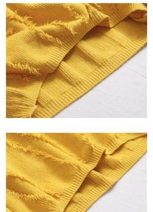 Свитер теплый, жёлтый3