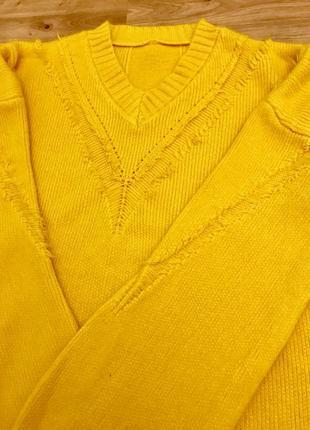 Свитер теплый, жёлтый4