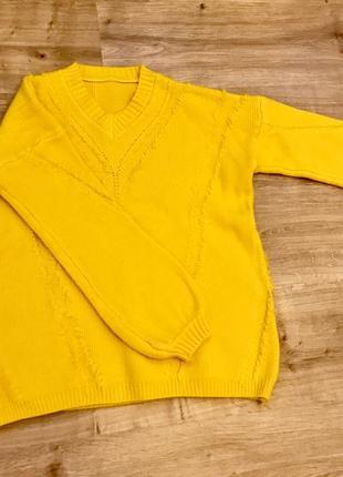 Свитер теплый, жёлтый5
