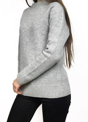 Шерстяной качественный теплый свитер джемпер 100% шерсть