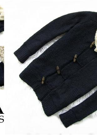 Стильная теплая кофта реглан   свитер  куртка zara