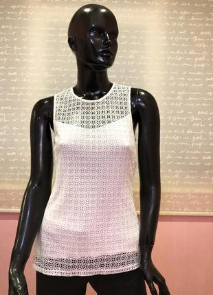 Блуза, футболка белая бренда h&m, размер s, 100 % вискоза