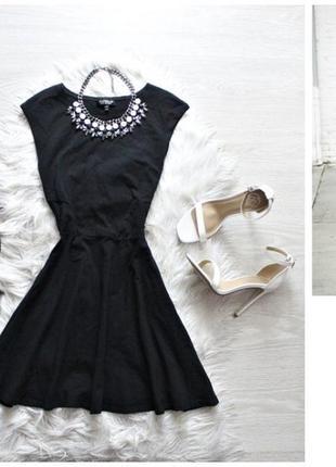 Чёрное платье с
