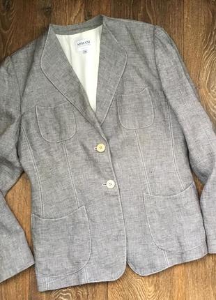 Пиджак armani оригинал,100%лён