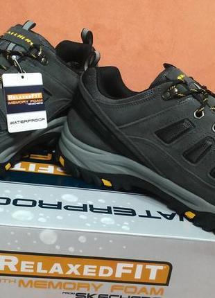 Skechers новые трекинговые ботинки кожа замша 48-49
