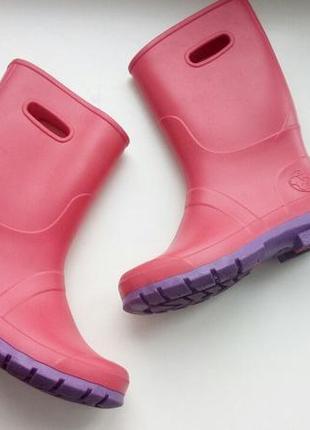 Детские резиновые сапоги для девочки. красивые1