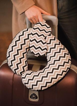 Подушка для путешествий, подушка для шеи, дорожная подушка - геометрия
