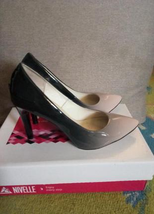 Кожаные  туфли  nivelle 39