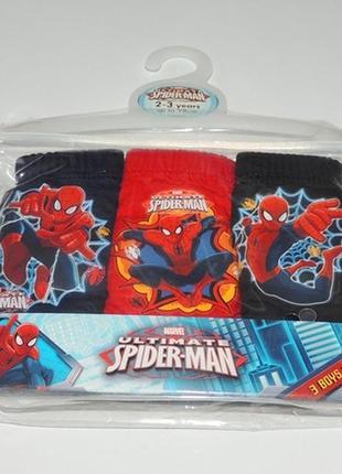 Классные трусики по 3 штучки в упаковочке человек паук из англии
