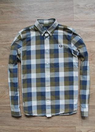 Шикарная оригинальная качественная рубашка fred perry размер м