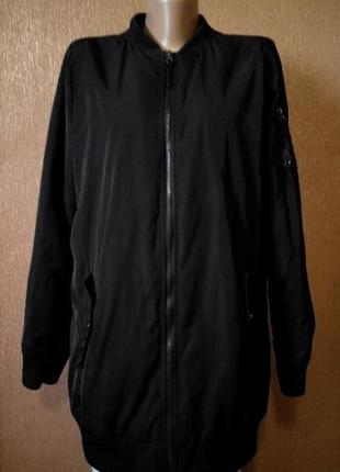 Куртка бомбер длинный размер 10-12 демисезонная удлиненная atmosphere
