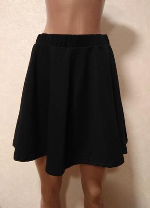 Cotton on черная мини юбка солнце клёш