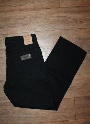 Оригинальные качественные джинсы wrangler texas black размер w35/l30