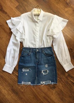 Шикарная блузка с оборкой рюшами h&m