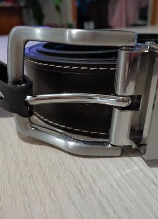 Новый мужской двух-сторонний кожаный ремень steve madden reversible belt leather