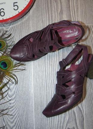 Кожаные босоножки дорого бренда tamaris