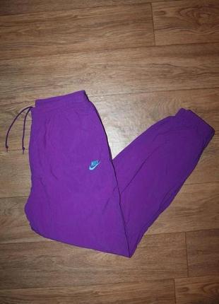 Яркие спортивные винтажные штаны nike vintage pants размер л