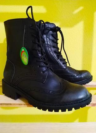 Трендовые ботинки ocube с эффектом потёртых носков