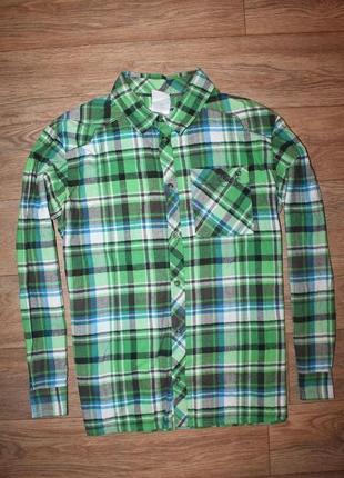 Качественная байковая рубашка jack wolfskin размер л