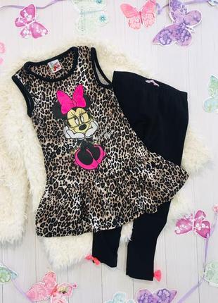 Платье вс минни в леопардовый принт