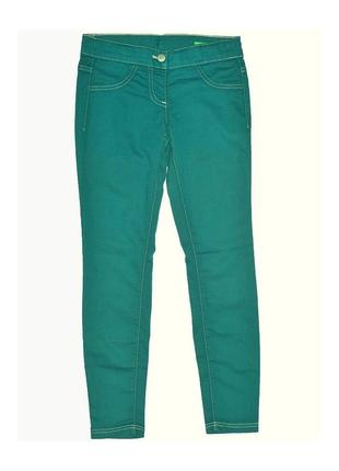 Новые бирюзовые джегинсы для девочки, united colors of benetton, 02161