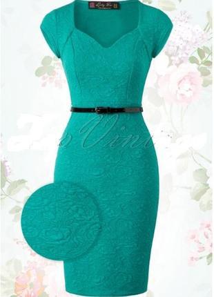 Текстурное облегающее платье от lindy bop, батал, большой размер, uk 22, наш 56