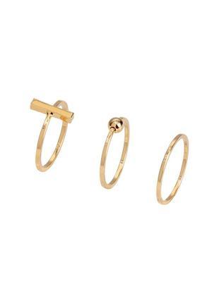 3 кольца с покрытием золота