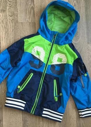 Куртка ветровка на флисе для мальчика 2 г cool club