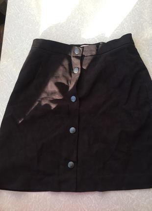 Велюровая юбка с кнопками
