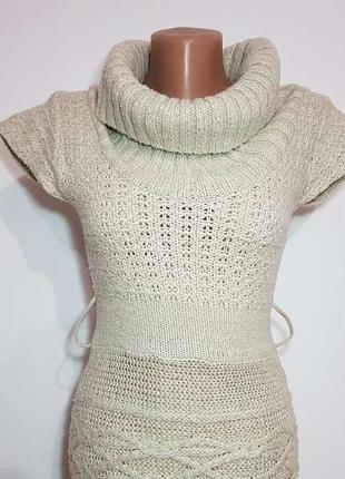 Платье вязаное с хомутом, jane norman, размер 8, s, как новое!