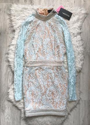 Шикарное кружевное платье prettylittlething