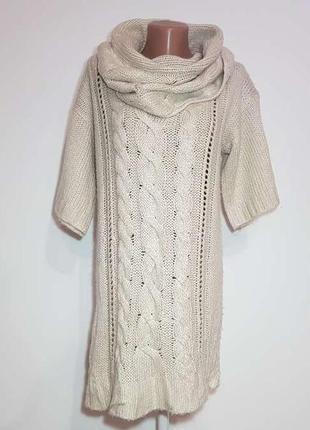 Платье вязаное с хомутом, new look, xl-xxl, как новое!