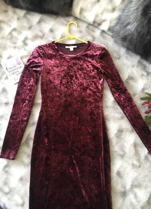 Шикарное платье бархатное от michael kors