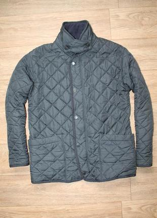 Оригинальная стёганка на флисе barbour bedale jacket размер s/m