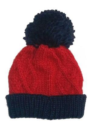 Новая вязаная красная шапка, mothercare, 43160