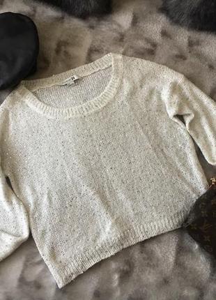 Нарядный свитер с пайетками forever 21