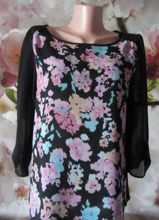 Тоненькая блуза(двойная)yessica(пог48см)