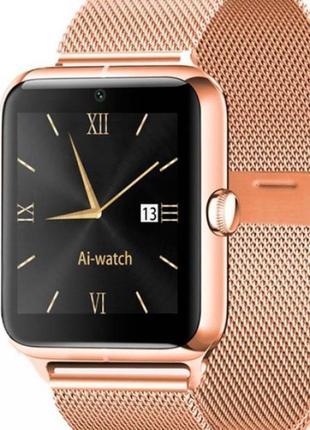 Часы смарт  голд z50 smart watch gold