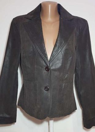Куртка кожаная f&f, размер 14, l, сост. отличное!