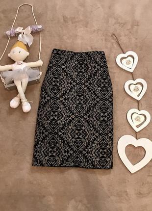 Красивая юбка m&s в составе коттон и вискоза