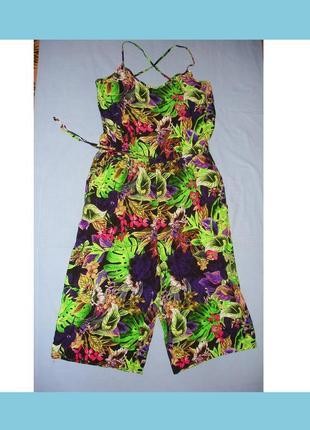 Женский ромпер летний комбинезон размер 50 / 16 papaya комбенезон шорты с карманами