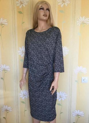 Платье из лёгкого трикотажа с драпировкой george 20 размер