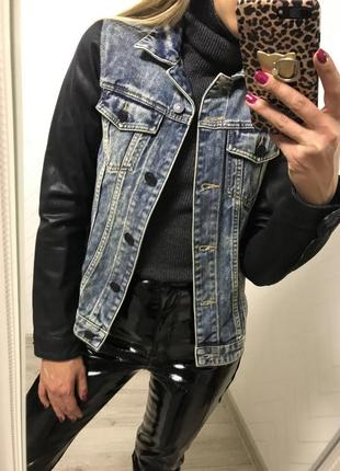 Джинсовый пиджак s