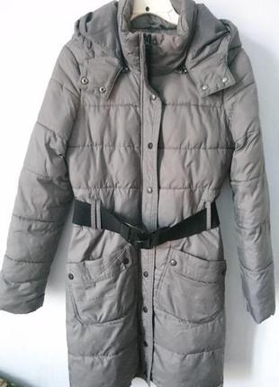 Пуховик пальто приталенное