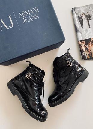 Ботинки с ласкованой кожы