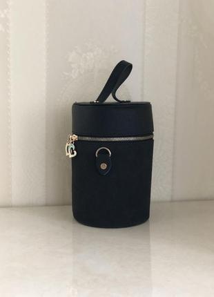 Сумочка ведро/ чёрная сумка через плечо новая!